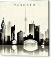 Toronto Black And White Canvas Print