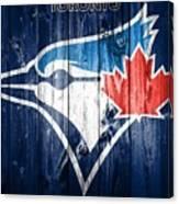 Toronto Blue Jays Barn Door Canvas Print