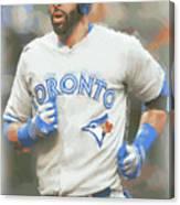 Toronto Blue Jays Jose Bautista Canvas Print