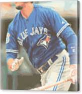Toronto Blue Jays Troy Tulowitzki Canvas Print
