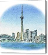 Toronto Canada City Skyline Canvas Print