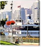 Toronto Island Ferry Arrives Canvas Print