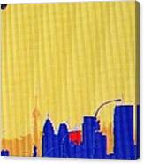 Toronto Lemon Skyline Canvas Print