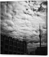 Toronto Morning Black And White Canvas Print