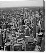 Toronto Ontario Scrapers In Black And White Canvas Print