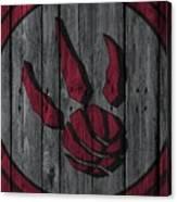 Toronto Raptors Wood Fence Canvas Print