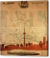 Toronto Skyline 36 Canvas Print