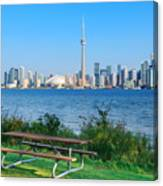Toronto Skyline From Park Canvas Print