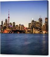 Toronto Sundown Canvas Print