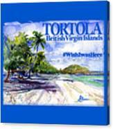 Tortola British Virgin Islands Shirt Canvas Print