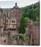 Torturm And Seltenleer Heidelberger Schloss Canvas Print