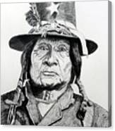 Tosawi Comanche Chief Canvas Print