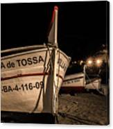 Tossa De Mar By Night Canvas Print