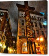 Totem In The City Canvas Print