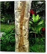 Totem Serpiente Emplumada Canvas Print