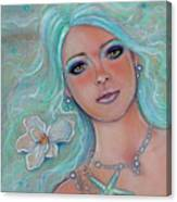 Touch Of Spring Mermaid Canvas Print