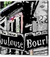 Toulouse And Bourbon Canvas Print