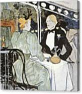Toulouse-lautrec: Menu Canvas Print