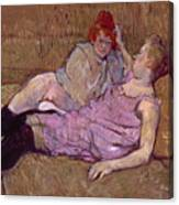 Toulouse Lautrec The Sofa Canvas Print