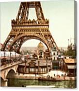 Tour Eiffel  Exposition Universelle Canvas Print