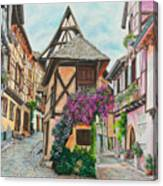 Touring In Eguisheim Canvas Print