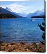 Touring Maligne Lake Canvas Print