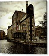 Tourist Office Norrkoping In Old Effect Canvas Print