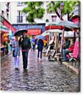 Tourists - Paris - Place Du Tertre Canvas Print