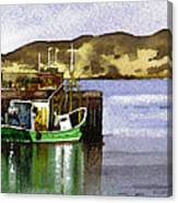Towards Davaar From Campbeltown Canvas Print