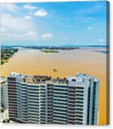 Tower And Guayas River Canvas Print