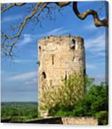 Tower At Chateau De Chinon Canvas Print