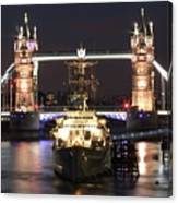 Tower Bridge And Hms Belfast Canvas Print