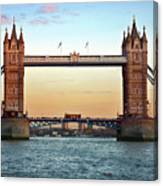Tower Bridge- Sunset In London Canvas Print