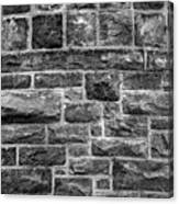 Tower Wall Black And White Canvas Print