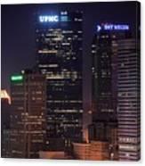 Towering Buildings Of Pittsburgh Canvas Print