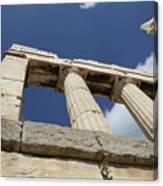 Towering Grecian Pillars Canvas Print