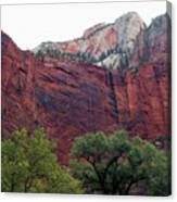 Towering Walls Zion Canvas Print