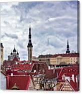 Towers Of The Tallinn Old Town Canvas Print