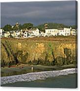 Town At The Seaside, Mendocino Canvas Print