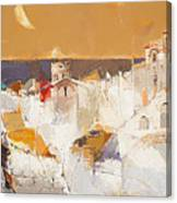 Town At The Seaside Canvas Print