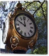 Town Clock Canvas Print