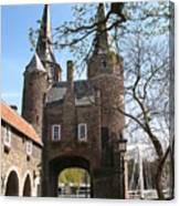 Town Gate - Delft Canvas Print