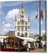 Town-hall And Marketplace Canvas Print