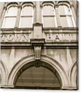 Town Hall, Arch And Windows Canvas Print