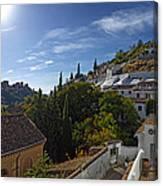 Town In A Valley, Sacromonte, Granada Canvas Print