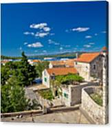 Town Of Betina Architecture And Coast Canvas Print