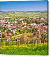 Town Of Ivanec Aerial Springtime View Canvas Print