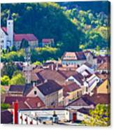 Town Of Krapina Rooftops View Canvas Print