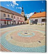 Town Of Ludbreg Square Vertical View Canvas Print