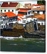 Town Of Porto Pim Canvas Print